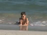 Strand mit Köpfchen
